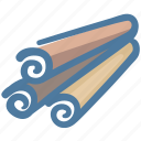 cinnamon, cook, food, herb, ingredient, spice icon