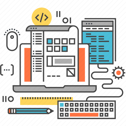 app, application, coding, development, laptop, program, software icon