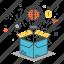 box, brainstorm, idea, imagination, outside, think, thinking icon
