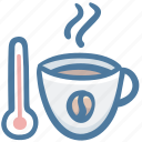cafe, coffee, drink, hot, thermometer icon