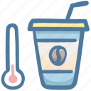 cafe, coffee, cold, drink, thermometer icon