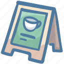 cafe, coffee shop, menu, restaurant, shop, store icon