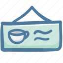 cafe, coffee shop, restaurant, shop, sign, store icon