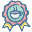 award, best, beverage, coffee, crown, drink icon