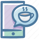 call, coffee, delivery, phone, service, smartphone icon