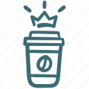 award, best, cafe, coffee, crown, king icon