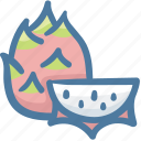 dragon, dragonfruit, food, fruit, tropical icon