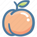 food, fruit, healthy, organic, peach icon