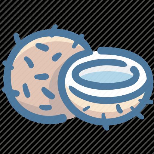 Coco, coconut, coconut half, food, fruit icon - Download on Iconfinder