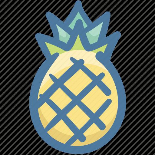food, fruit, pineapple, pineapple fruit, slice of pineapple, tropical icon