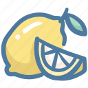 fruit, juicy, lemon, slice, sour icon