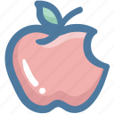 apple, food, fruit, healthy, red apple, vegetable icon
