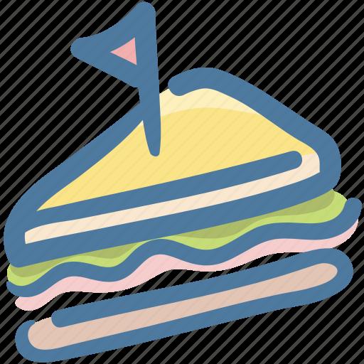 Bread, food, half sandwich, lunch, sandwich icon - Download on Iconfinder