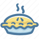 apple pie, bakery, dessert, food, pie icon