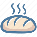 baguette, bread, bread loaf, food, toast icon