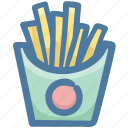 food, potatoes, fry, fries, fast food icon