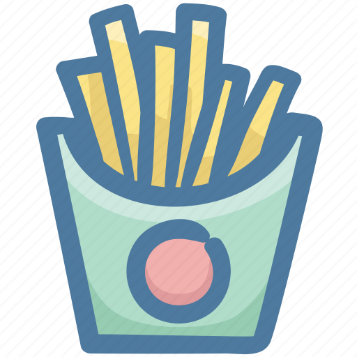 fast food, food, fries, fry, potatoes icon