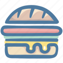 burger, cheeseburger, fast food, food, junk food icon