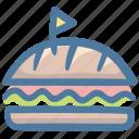 burger, cheeseburger, fast food, food, junk food