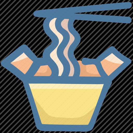 Chopsticks, cup noodles, food, instant noodles, noodles icon - Download on Iconfinder