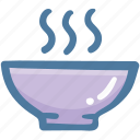 bowl, food, food bowl, hot food, hot soup, soup icon