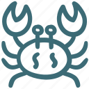 animal, claw, crab, food, ocean, sea food icon