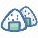 food, japanese, japanese food, onigiri, rice ball icon