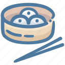 chinese food, dim sum, food, japan food, steam basket icon