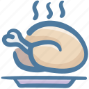 food, meal, meat, poultry, turkey icon