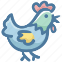 animal, chicken, farm, food, grilled chicken, morning icon