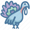 animal, animals, bird, food, poultry, turkey icon