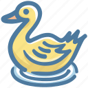 bath duck, duck, food, rubber duck, shower duck, water icon