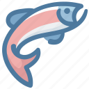 fish, fishing, fishy, food, salmon, sockeye icon