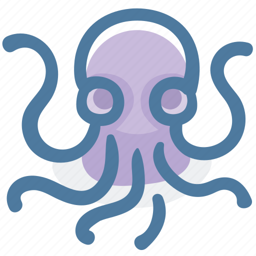 food, ocean, octopus, seafood, squid, tentacle icon