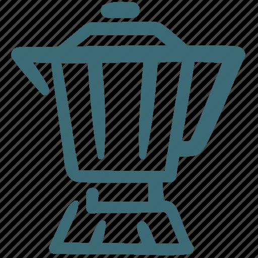 Beverage, coffee, drink, food, hot, moka pot icon - Download on Iconfinder
