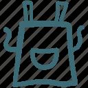 apron, canvas apron, food, kitchen, lense, magnifier icon