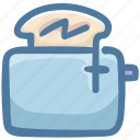 bread, bread toaster, breakfast, food, machine, toaster icon