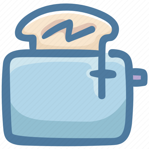 Bread, bread toaster, breakfast, food, machine, toaster icon - Download on Iconfinder
