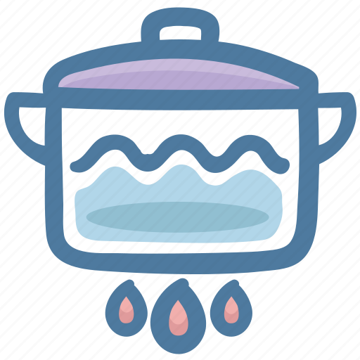 Boiling pot, food, hot, kitchen, pot, temperature icon - Download on Iconfinder