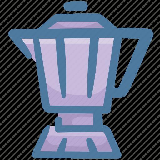 beverage, coffee, drink, food, hot, moka pot icon