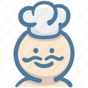chef, chef hat, chefs hat, cook, food, restaurant, toque icon