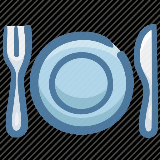 Dish, food, fork, knife, restaurant, silverware icon - Download on Iconfinder