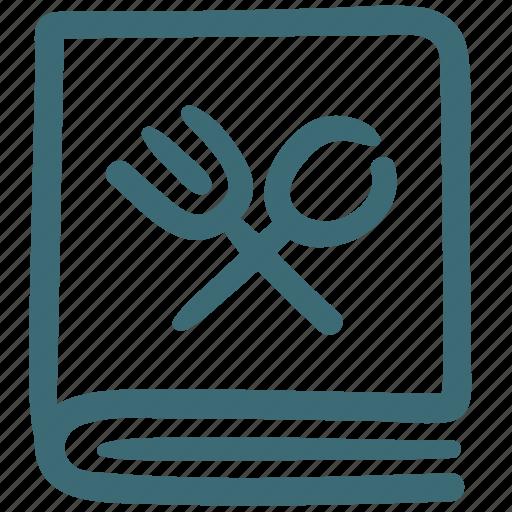 cooking, cuisine, food, menu, menu book, recipe icon