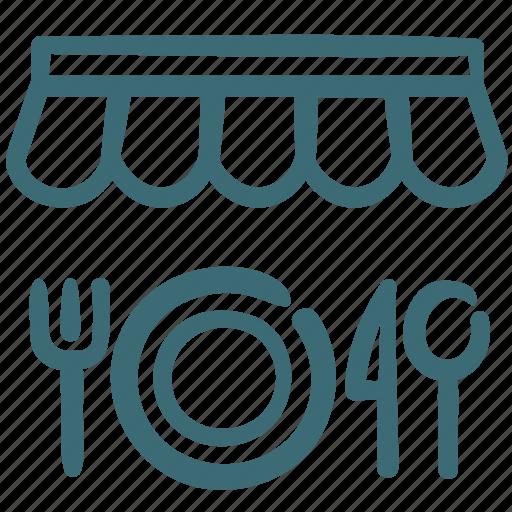 bistro, deli, food, restaurant, shop, store icon