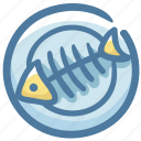 bone, fish, fishbone, food, garbage, poor icon