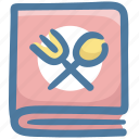 cooking, cuisine, food, menu, menu book, recipe icon