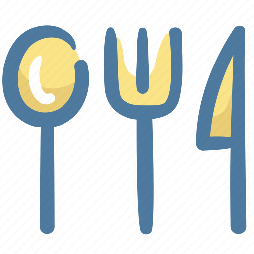 flatware, food, hotel, restaurant, service icon