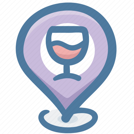 cafe, drink, food, location, pin, restaurant icon