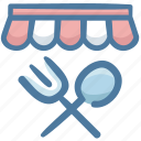 bistro, deli, food, restaurant, shop, store icon