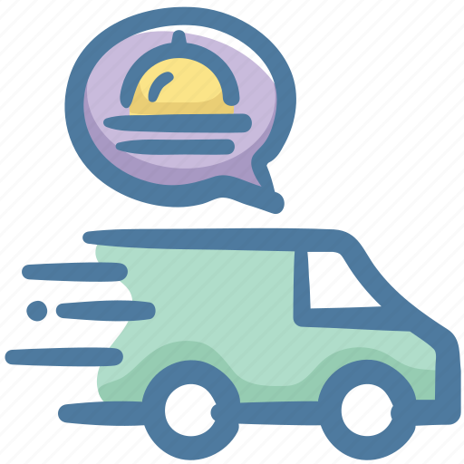 delivery, food, restaurant, service, truck icon